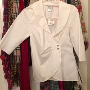 Plus size (1x)Just My Size white crossover blouse